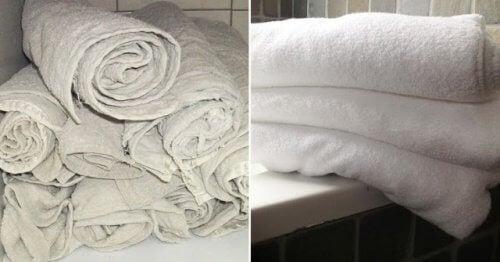 Um truque eficaz que deixará suas toalhas velhas como novas