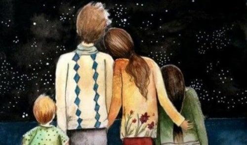 Família que representa uma redoma de felicidade