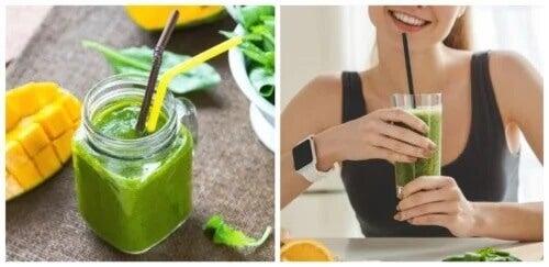 5 sucos de espinafre para perder peso
