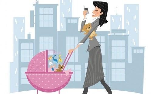 Mulher trabalhadora e mãe
