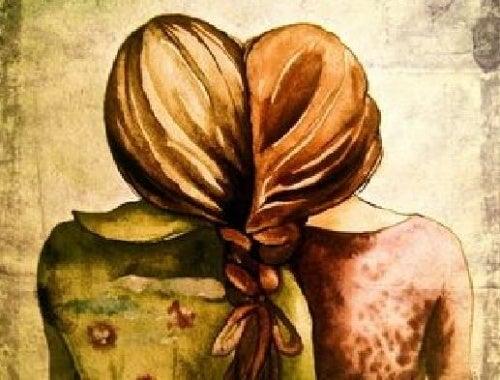 Mulheres que somam uma à outra