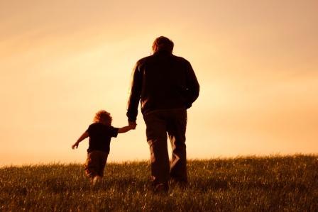 Neto com seu avô