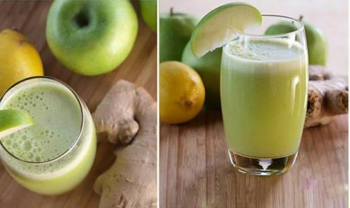 Suco de maçã verde, mel e limão para seus pulmões