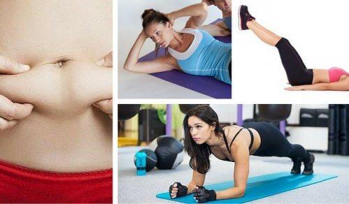7 exercícios muito simples para queimar a gordura abdominal