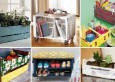 Maneiras criativas de reciclar caixas de frutas em casa