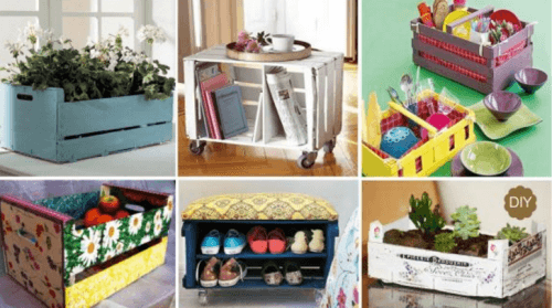 20 maneiras criativas de reciclar caixas de frutas em casa