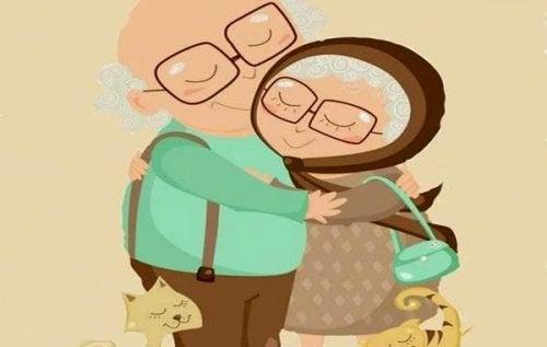 Amores que não se importam com os anos, rugas ou o tempo