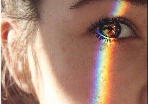 Arco íris no olhar