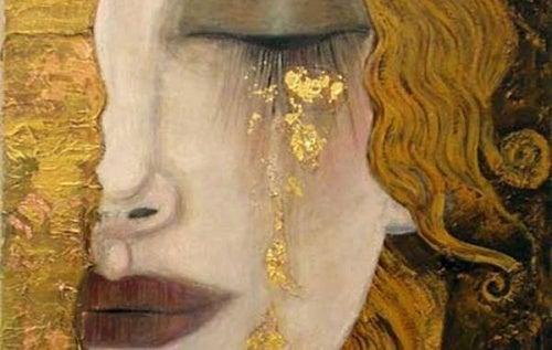 Mulher triste porque não amadureceu