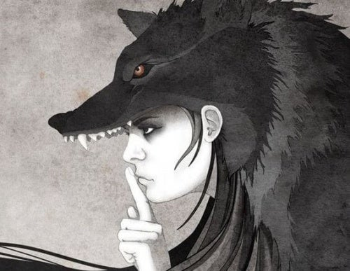 mulher-lobo-silenciando-opinião