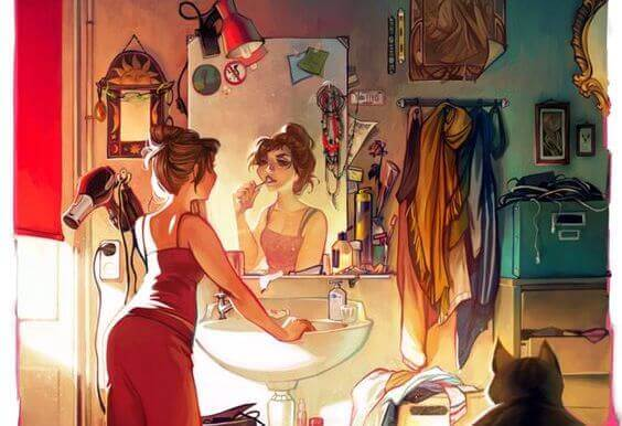 mulher_espelho_apartamento