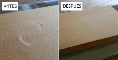 Um truque eficaz para remover deformidades na madeira