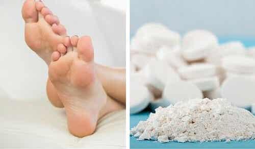 Um truque simples para eliminar os calos dos pés com aspirina