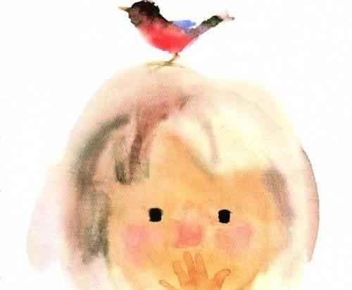 Neto com passarinho na cabeça