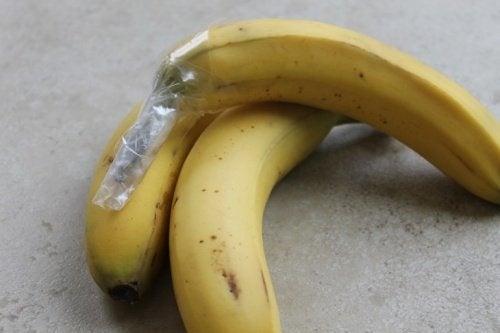 Evitar o desperdício de bananas