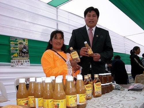 Bebida feita de Maca Peruana