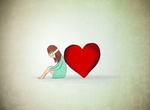 Menina triste porque querem mudar sua forma de ser