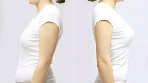 A postura e os seios