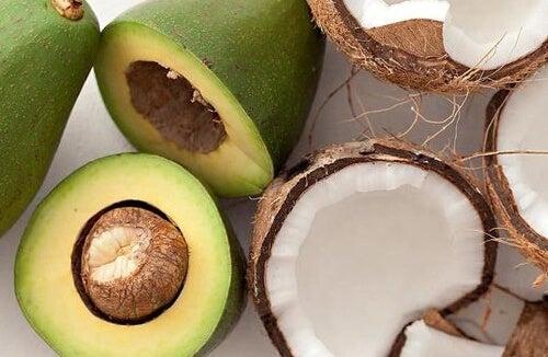 abacate e coco