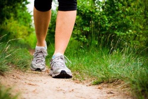 Andar para evitar câncer