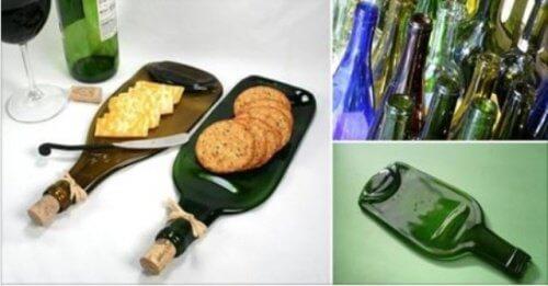 Como fazer uma tábua de lanches com uma garrafa de vidro