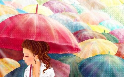 Para dias nublados, um guarda-chuva de cores!