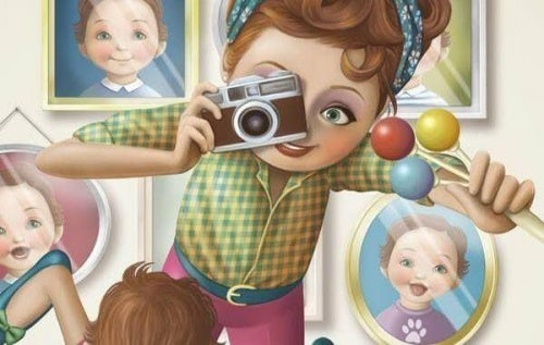 Mulher trabalhando de fotógrafa