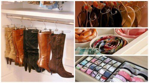 17 ideias interessantes para organizar o guarda-roupa e ganhar espaço