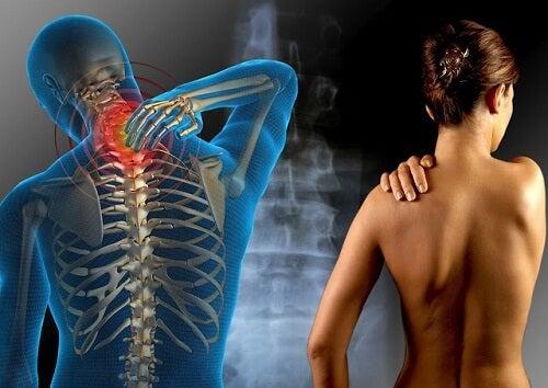 Dor nas articulações das costas