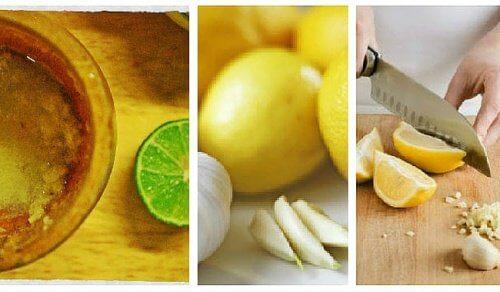 Remédio caseiro com alho e limão para combater a gordura abdominal