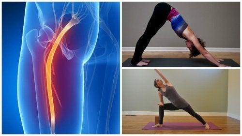 Alongamentos da ioga para aliviar a dor do nervo ciático