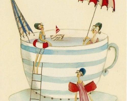 Primos na piscina