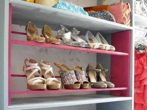 Estante para sapatos