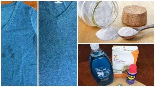 Pensando em jogar fora as roupas com manchas de gordura? Experimente estes truques para removê-las