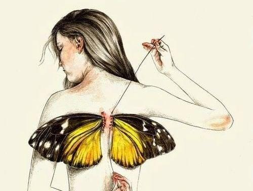 Todos nascemos com asas, mas às vezes a vida as arranca
