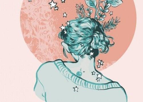 Mulher de costas para o amor