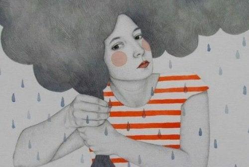 Mulher com baixa autoestima