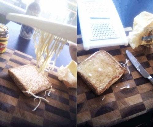 Ralar manteiga para facilitar as tarefas domésticas