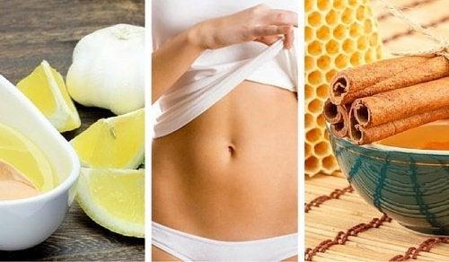 5 remédios naturais para conseguir um abdômen chapado