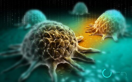 Células do câncer de pulmão