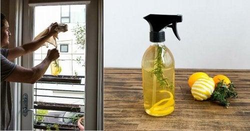 Limpador à base de casca de limão