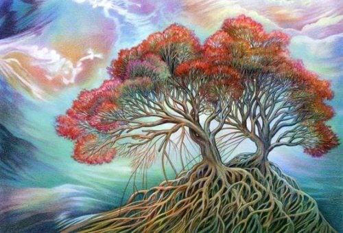 Árvore representando a felicidade