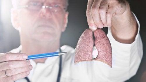 Médico explicando tudo sobre o câncer de pulmão