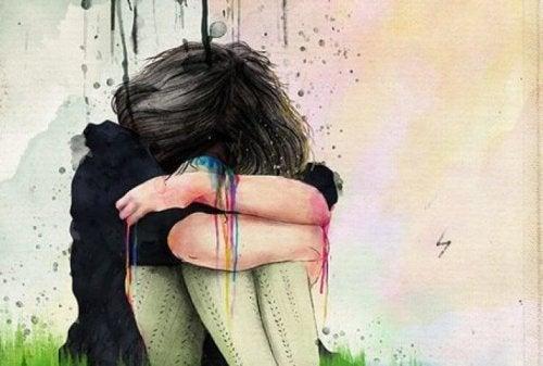 Menina tóxica chorando