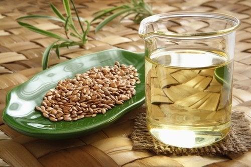 Água de semente de linhaça para a acidez e a gastrite