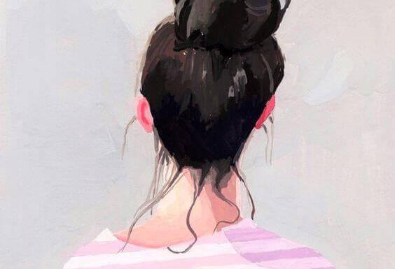 Mulher dando as costas para maus entendidos