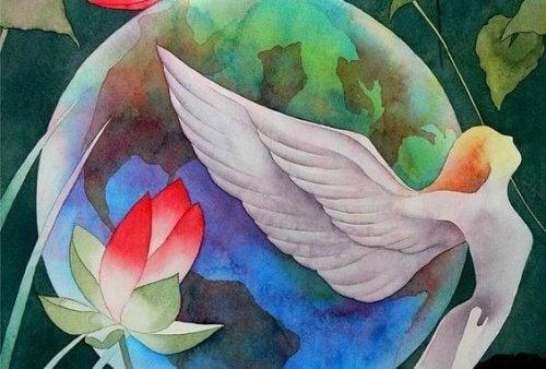 mulher_com_asas_planeta_terra_paz