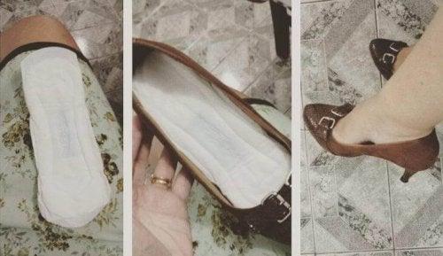 Palmilha nos sapatos