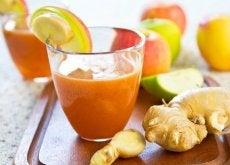 Quais são os benefícios do suco de cenoura com gengibre?
