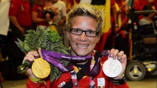 Marieke Vervoort com medalha